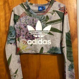 Adidas cropped long sleeved shirt